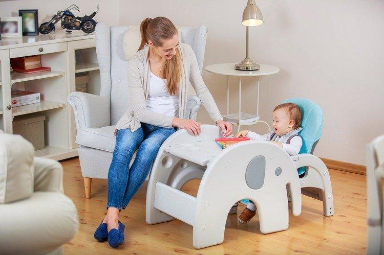 Lionelo Eli Pink Krzesełko Do Karmienia 5w1 Różowy Dla Dziecka