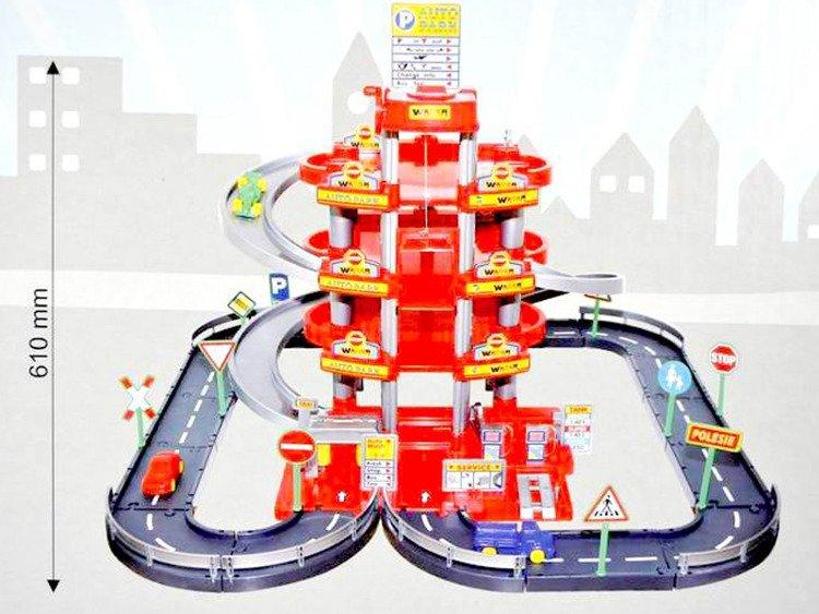 Wader 44723 Tor Garaż Parking 4 Poziomowy Winda 61cm Dla Dziecka