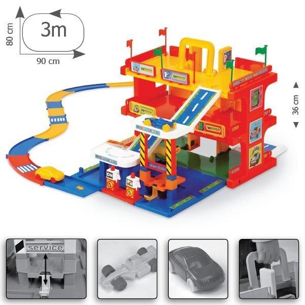 Wader 50400 Duży Garaż Parking Z Drogą 3m Dla Dziecka Zabawki