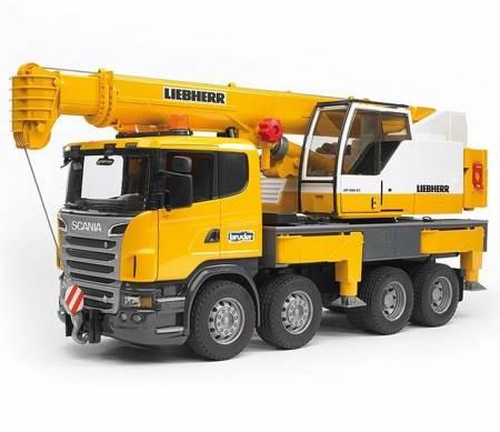 Bruder 03570 Scania dźwig Liebherr 1,3m Duży!!!